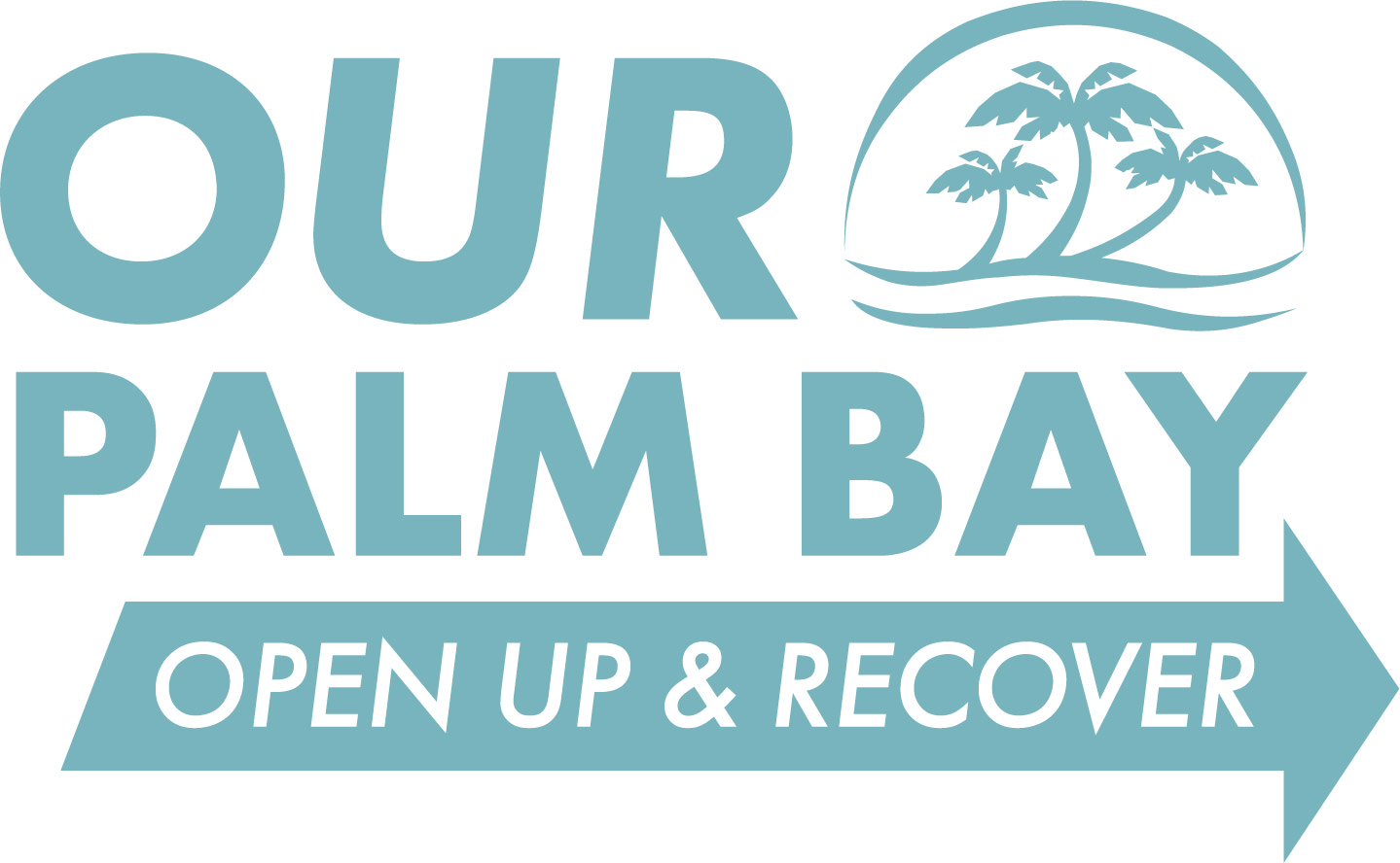 Our Palm Bay Open Up & Recover Logo